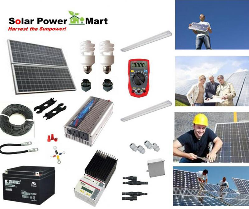 Solar power mart diy kit solar power green lighting remote 1020w solar power diy kit solutioingenieria Image collections