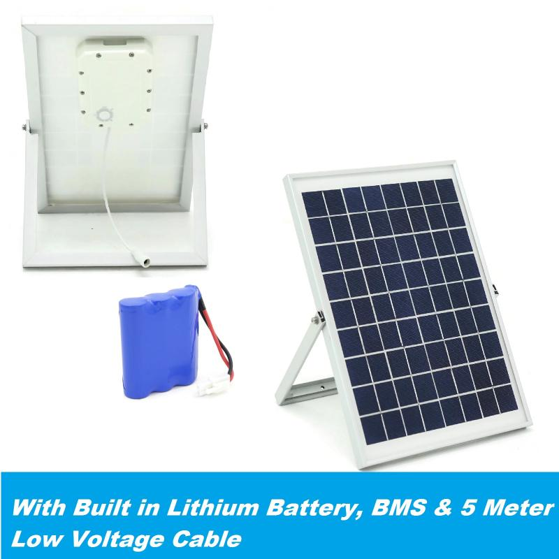 10W Solar Power System With Lithium Battery