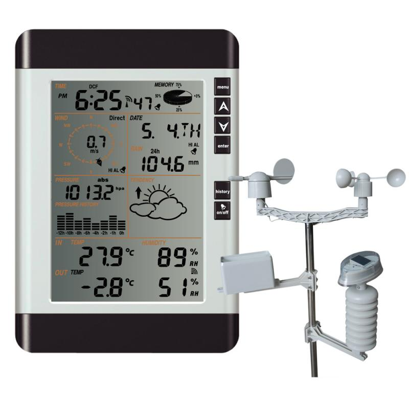 Solar Panel Weather Station with PC Interface