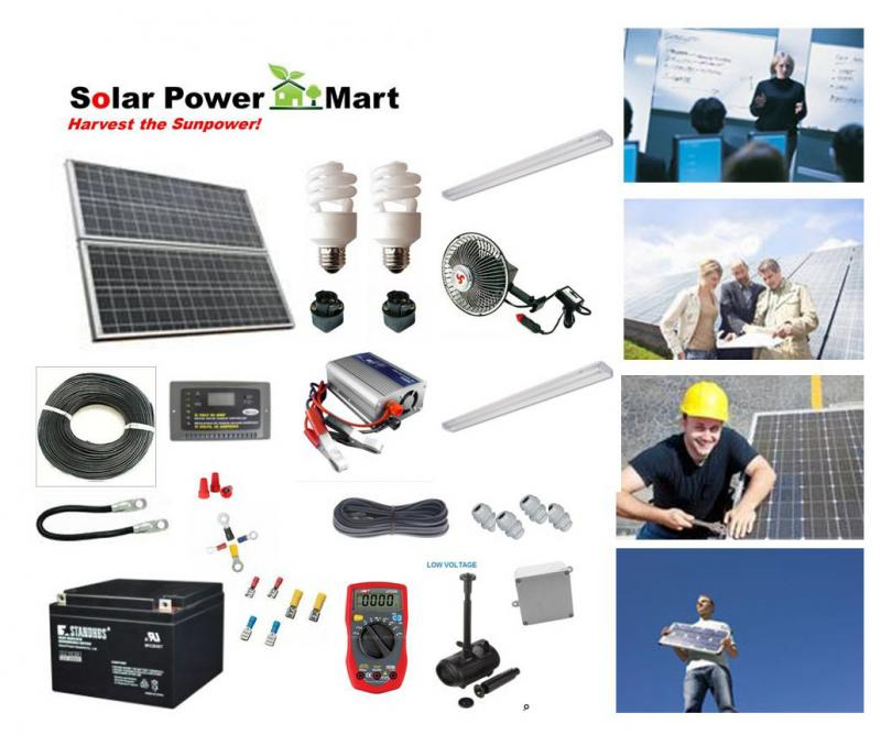 Solar power mart education solar diy kit solar training 40w solar power diy professional kit solutioingenieria Choice Image