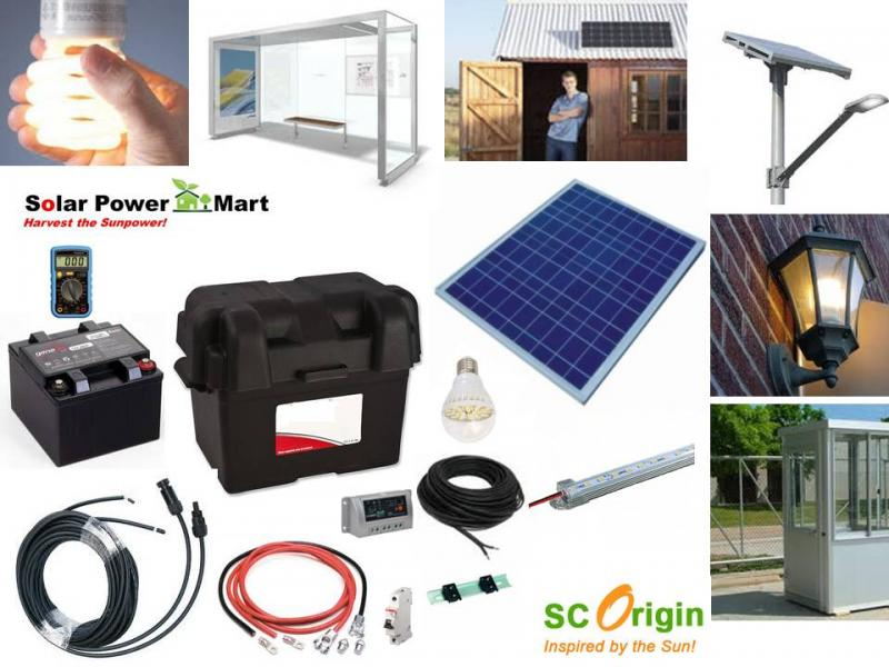 Solar power mart diy kit solar power green lighting remote 50w diy solar lighting kit 2013 solutioingenieria Choice Image