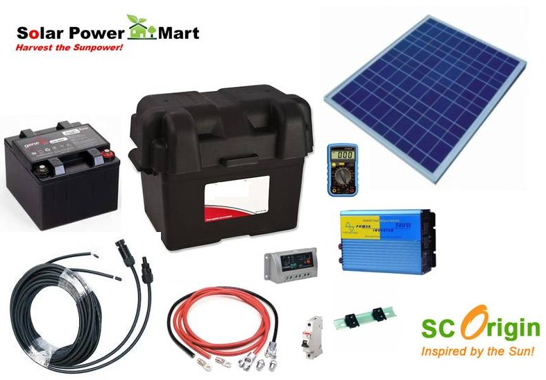 Solar power mart diy kit solar power green lighting remote 50 watt do it yourself solar power generator kit solutioingenieria Choice Image