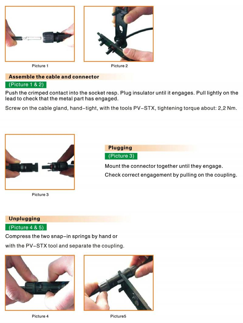 Solar Connector Assembly Instruction