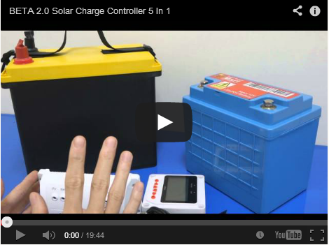 YouTube: BETA 2,0 Solar Charger Controller