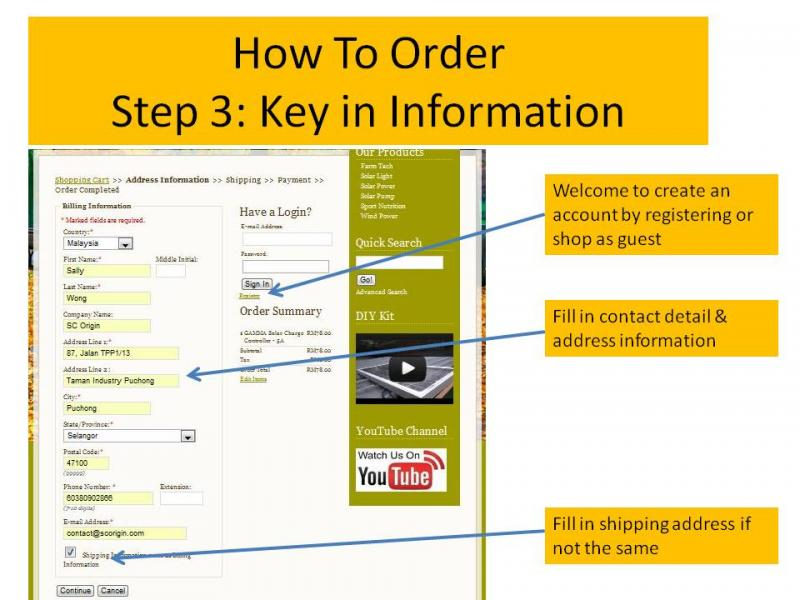 How to order 3