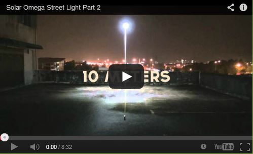 Solar Omega Street Light Part 2 YouTube Video