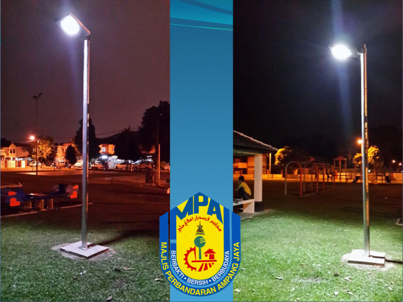 Solar Omega Street Light in MPAJ Taman-Taman
